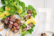 Salt and pepper beef and lettuce wraps