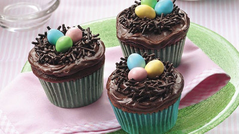 Chocolate Chip Easter Cupcakes