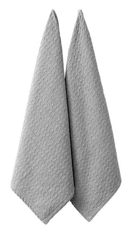 LADELLE  Eco Recycled Kitchen Towel Light Grey - 2 Piece Set