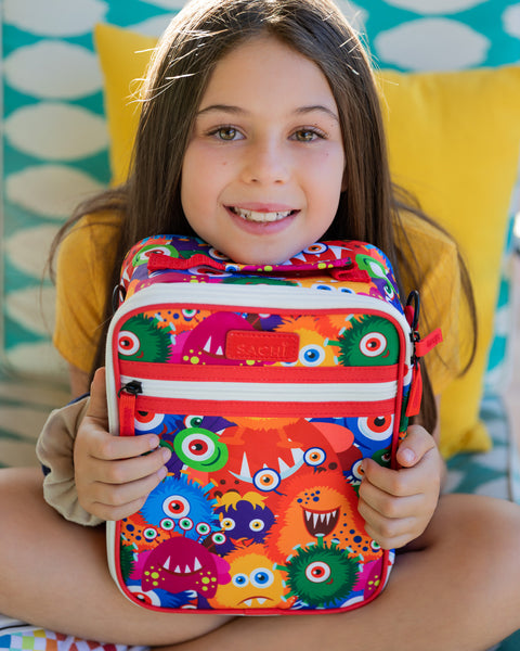Young girl with Sachi school lunch bag