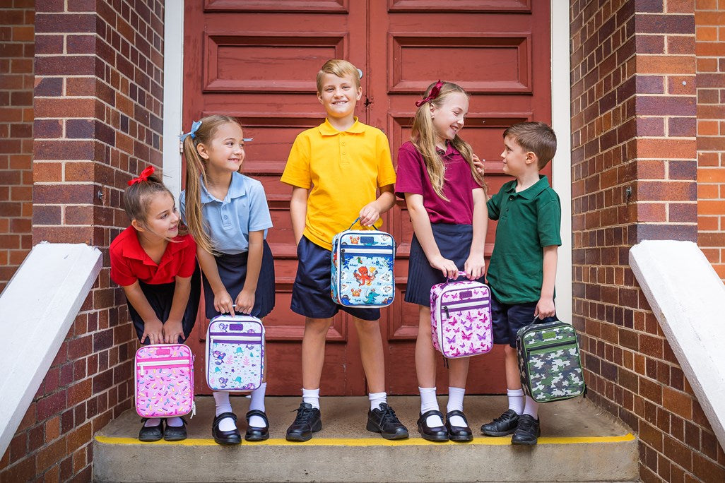 Kids ready for back to school with Sachi lunch bags