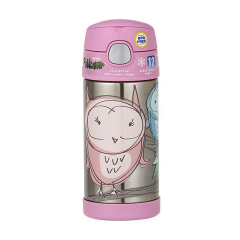 THERMOS  Funtainer Vacuum Insulated Drink Bottle - Owl 355ml