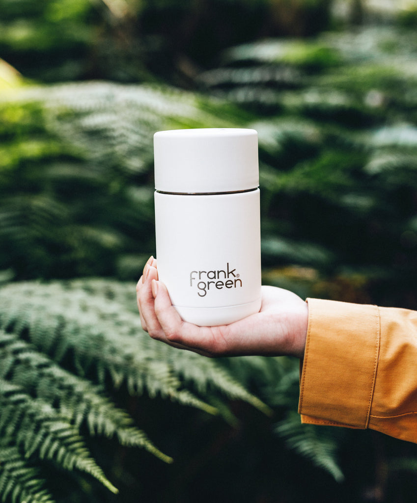 Frank Green reusable coffee cup in White