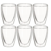 Avanti Caffe Twin Wall Glasses Set of 6 - 250ml