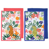 Ladelle Arise Cheetah Kitchen Towel Assorted - 2 Piece Set