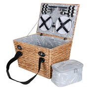 Avanti 4 Person Picnic Basket - Wicker With Pattern Lining