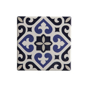 Medina Ceramic Square Tile Coaster Azrou - 9cm