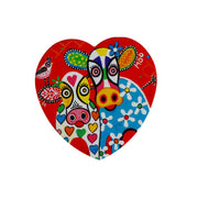 Maxwell & Williams Love Hearts Heart Coaster 10cm - Happy Moo Day