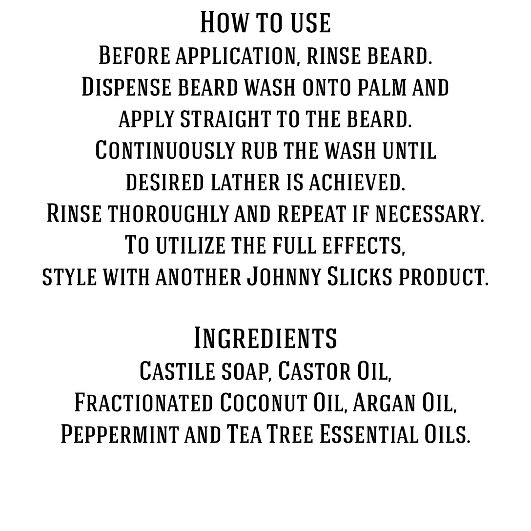 Organic Hand Whipped Beard Wash