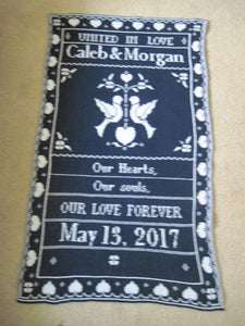 United in Love Personalized Wedding Blanket