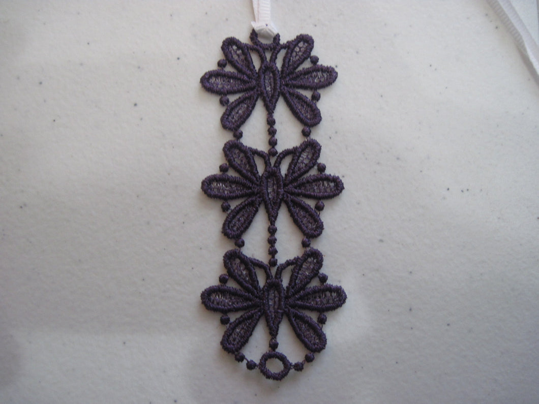 Embroidered Lace Book Marker