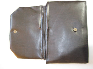Leather Fabric Clutch Purse
