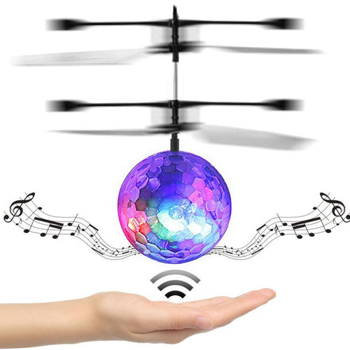 RC Toy EpochAir RC Flying Ball RC Drone Helicopter Ball Built-in Disco Music With Shinning LED Lighting for Kids Teenagers