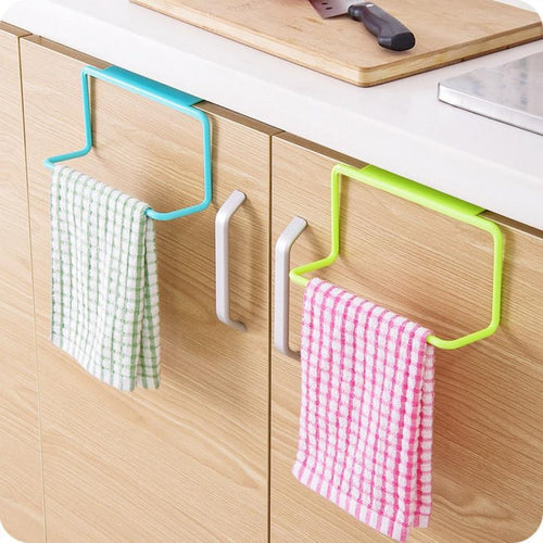 Kitchen Organizer Towel Rack Hanging Holder Bathroom Cabinet Cupboard Hanger Shelf For Kitchen Supplies Accessories Cocina *40