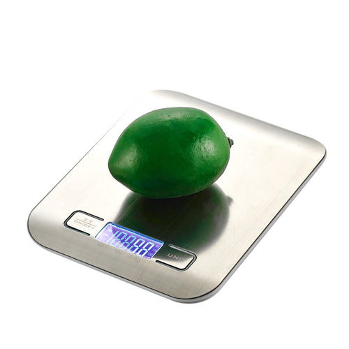 LED Digital Kitchen Scales 11LB/5KG Kitchen Bench Scale Weight Device Food Diet Stainless Steel Kitchen Balance Weight Scales