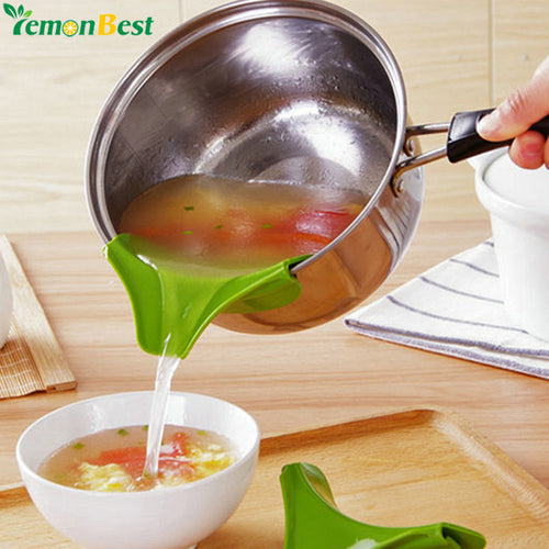 Bar Kitchen Accessories New Kitchen Funnel Tools Pots and Pans To Prevent Spills Circular Rim Deflector Liquid Silicone Funnel