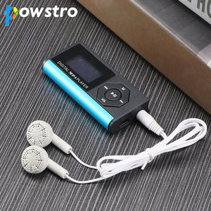 Powstro MP3 Player with Earphone Digital Compact Portable Max 3.7V support 16 GB Micro SD Card 1.8 inch Display TFT Music Player
