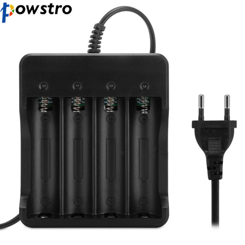 EU/US Plug 4 Slots Battery Charger With Short Circuit Protection For 4*18650 Rechargeable Lithium-ion Battery