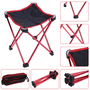 Waterproof  Folding Fishing Chair Four legged Triangular PVC Oxford Fabric Chair Stool Black Outdoor Camping Fishing Supplies
