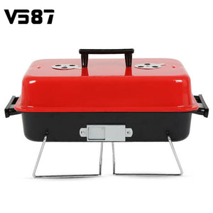 Metal Iron Portable Charcoal BBQ Cooking Grill Stainless Steel Outdoor Camping Barbecue Tools Accessories Cookware BBQ Supplies