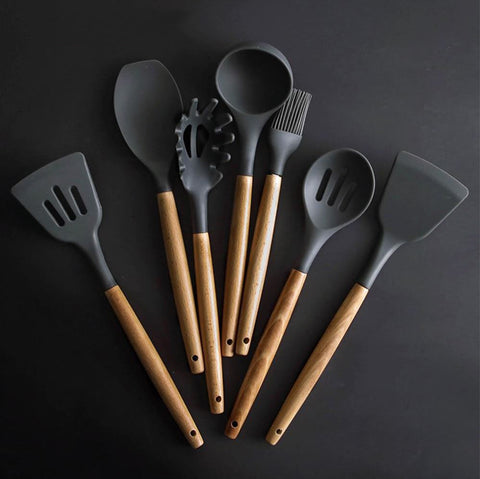 Image of High-Grade Silicon Kitchen Utensil Set