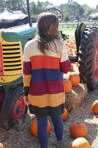 Autumn Adventures Striped Cardigan | Cotton Avenue Boutique