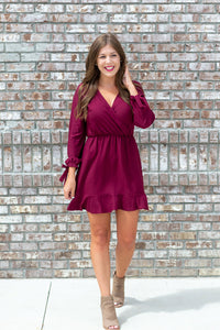 Carolina Girl Burgundy Dress - Cotton Avenue