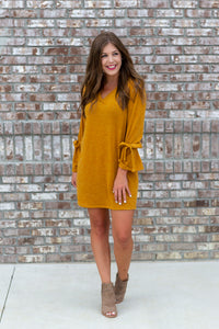 Mustard Sweater Dress - Cotton Avenue