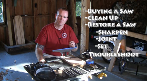 Learn to Sharpen your Hand Saw - Hand Saw Sharpening Video