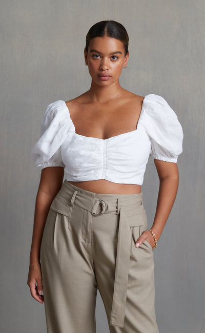 HATTIE TOP - IVORY