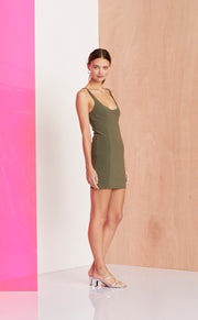 AMELIE MINI DRESS - SAGE