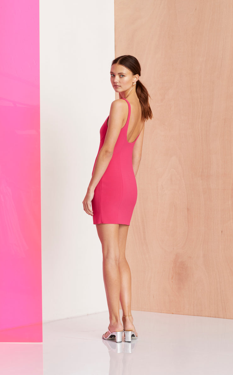 AMELIE MINI DRESS - MAGENTA