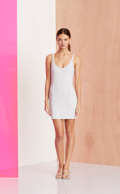 AMELIE MINI DRESS - SILVER