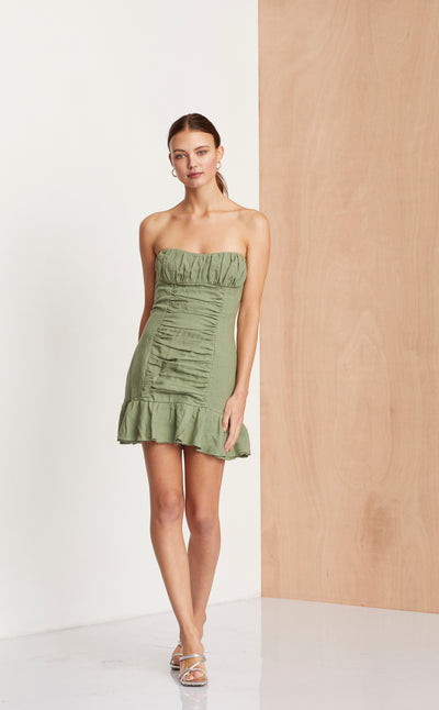 THE DREAMER MINI DRESS - KHAKI