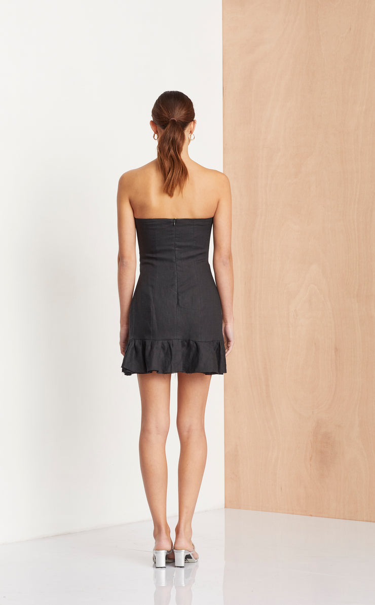 THE DREAMER MINI DRESS - BLACK