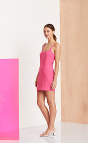 FUCHSIA FUNK DRESS - HOT PINK