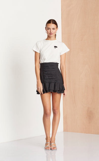 MISS BERET TEE - IVORY