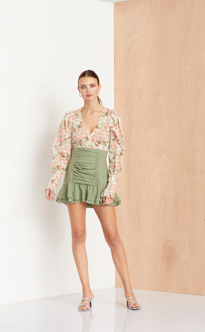 THE DREAMER MINI SKIRT - KHAKI