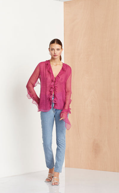 PINK PARTY SHIRT - FUCHSIA SPOT