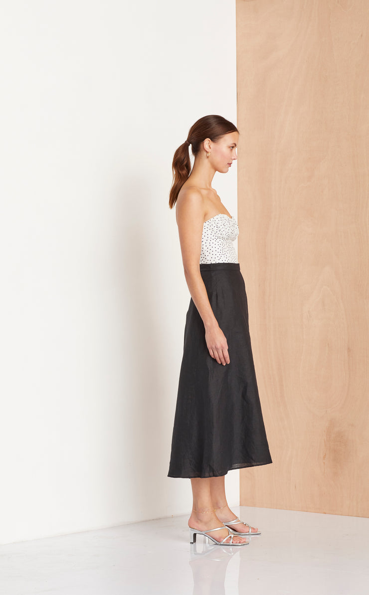 THE DREAMER MIDI SKIRT - BLACK