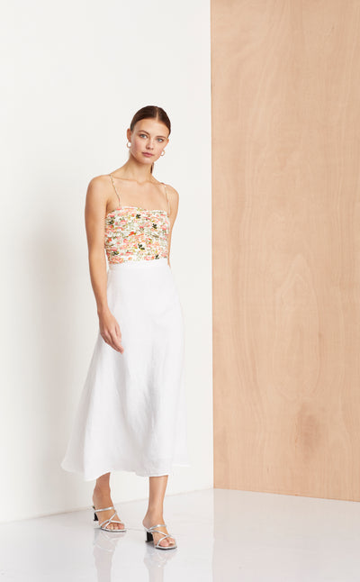 THE DREAMER MIDI SKIRT - IVORY
