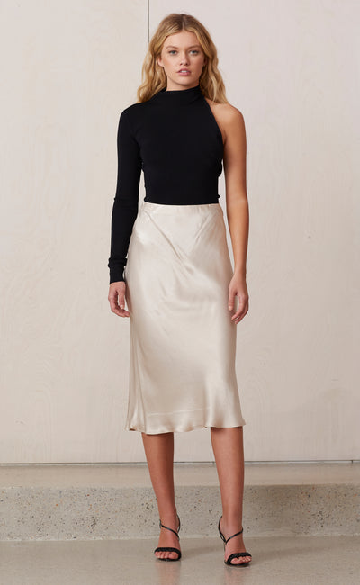 MIDNIGHT DANCE MIDI SKIRT - SAND