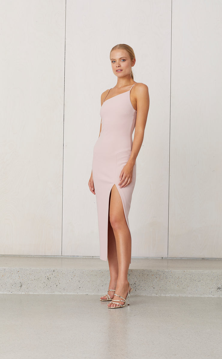 DOMINIQUE ASYM DRESS - HIMALAYAN SALT