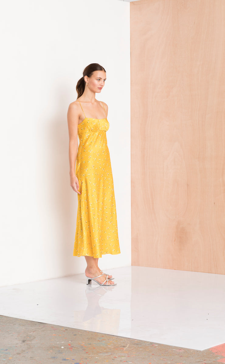 ONLY IN PARIS SLIP DRESS - MARIGOLD PRINT