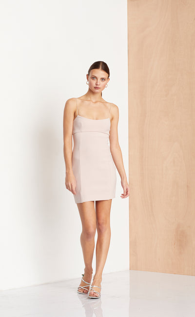 DOMINIQUE MINI DRESS - HIMALAYAN SALT