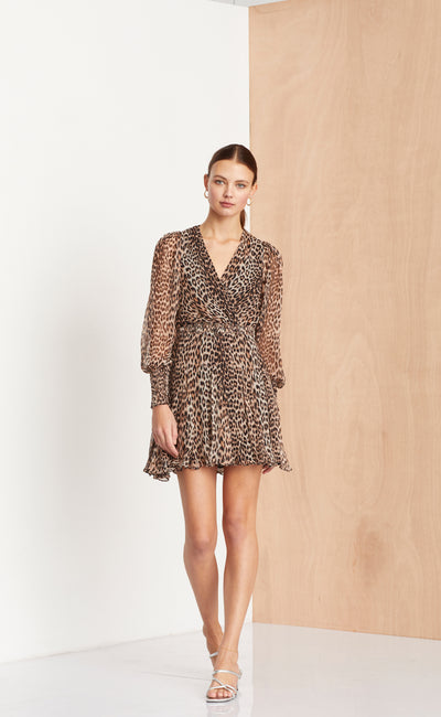 KITTY KAT DRESS - LEOPARD PRINT