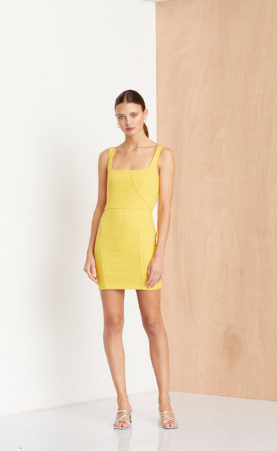 CLE'MENCE MINI DRESS - MARIGOLD