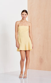 SWEET PEA ASYM DRESS  - HONEY