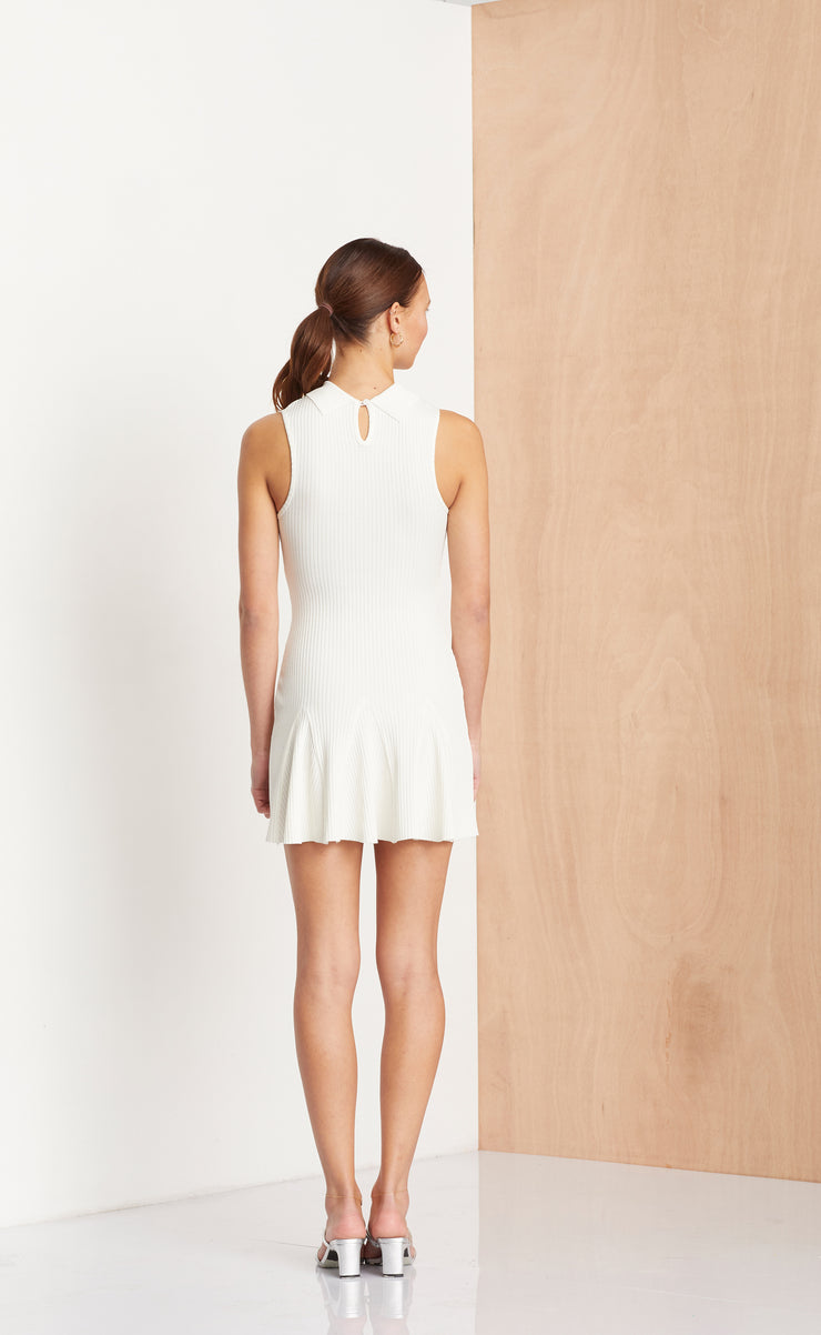 NOIR ET BLANC MINI DRESS - IVORY