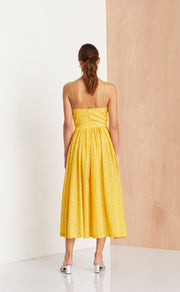 MARIGOLD FIELDS MIDI DRESS - MARIGOLD PRINT